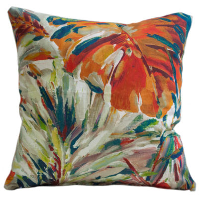 Painted Jungle Leaves Cushion
