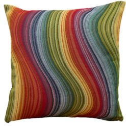 Rainbow Wave Tapestry Cushion