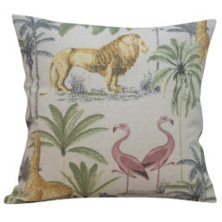 Savanna Safari Animals Cushion