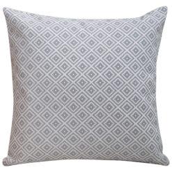 Scandi Ikat Cushion in Grey