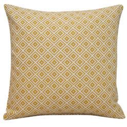 Scandi Ikat Cushion in Ochre