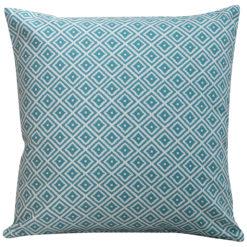 Scandi Ikat Cushion in Turquoise Blue
