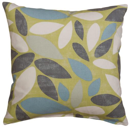 Scandi Petal Cushion in Lime Green