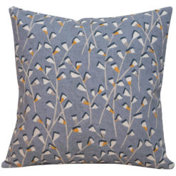 Scandi Trailing Flowers Cushion Denim