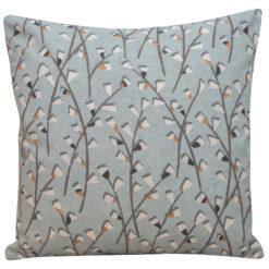 Scandi Trailing Flowers Cushion Duckegg
