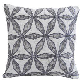 Star Geometry Cushion in Charcoal