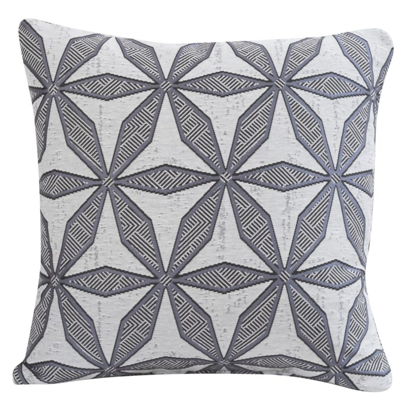Star Geometry Cushion in Charcoal