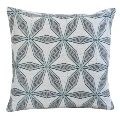 Star Geometry Cushion in Duck Egg Blue