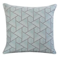 Triangle Geometry Cushion In Duck Egg