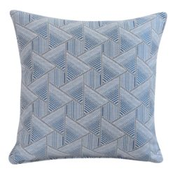 Triangle Geometry Cushion In Navy