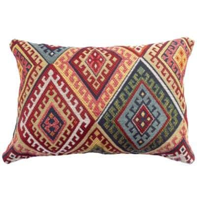 Turkish Kilim Weave Boudoir Cushion