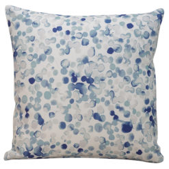 Water Droplet Cushion in Blue