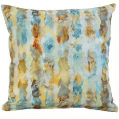 Watercolour Raindrop Cushion in Terracotta
