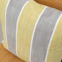 Yacht Stripe Cushion in Grey Ochre
