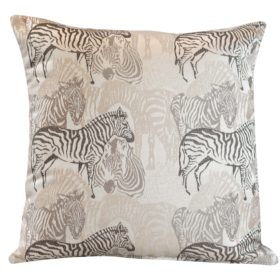 Zebra Jacquard Safari Cushion